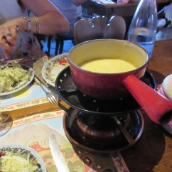 Fondue in Gruyères was a highlight